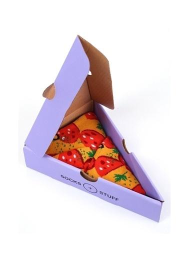 Socks+Stuff Socks&Stuff Dilim Pepperoni Pizza  Çorap Oranj